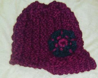Newsboy Inspired Knit Hat