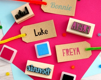 Personalised First Name Rubber Stamps - Personalized Stamp - Custom Stamper - Stocking Stuffer Filler - Teen Gift - Scrapbooking - Craft