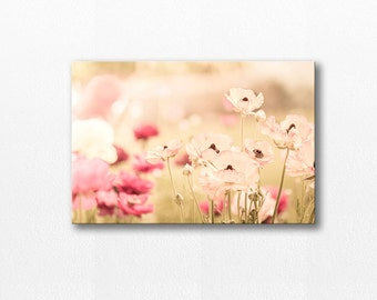 flower photography canvas print floral canvas art 12x12 24x36 fine art photography floral poppies photography canvas wrap wall decor nursery