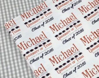 Graduation Gift Special! Personalized Throw Blanket Class of 2016 Gifts for Him Her College Graduate Present