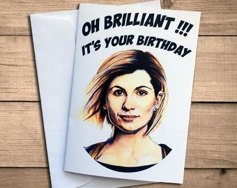 The 13th Doctor birthday card