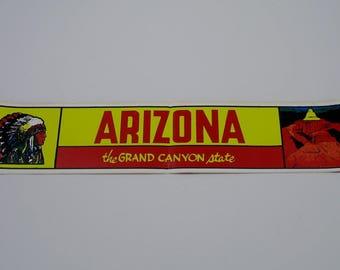 Vintage Bumper Sticker Grand Canyon Decal Arizona tourist travel souvenir USA Americana collector national park vacation AZ 60s 70s state