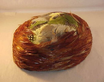 Women's Feather Hat Made With Real Bird Feathers