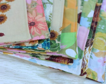 Cloth Napkins Chickens Flowers Lunchbox Set of 5