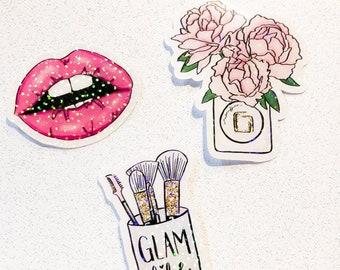 Glam life die cut set | planner die cuts | die cut set | planner accessories  | TN accessories | planner stickers | ephemera |