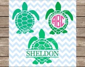Turtles svg files Monogram Turtle svg Ocean svg Beach svg Summer svg Sea Turtle svg Turle Monogram svg Nautical svg sea life svg files dxf