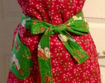 Love and joy reversible apron