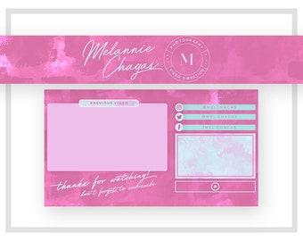 Youtube Banner Design   Youtube Endcard Design   Pink Youtube Channel Art   Youtube Channel Banner   Youtube Logo Design   Pink Teal Logo