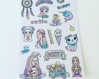 Forever Young MINI Deco Planner Stickers