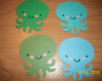 Octopus die cuts- set of 4
