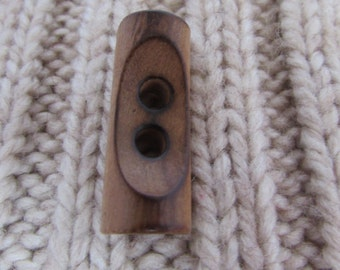 35mm Burnt Edge Wooden Toggle