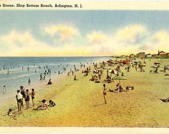 Arlington New Jersey Ship Bottom Beach Vintage Postcard 1948