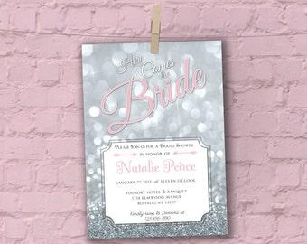 Glitz Glam - Bridal Shower Invitation - Digital File, Ready to Print
