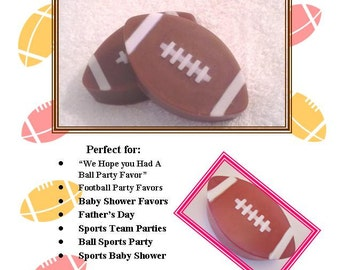 Set of 20 Football Soaps, Football Fantasy Soap Favor, Ball Favors, Sporty Party Favor, Bulk Football Favors, Football Favor, Football Party