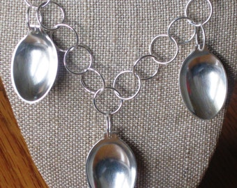 Small Spoon Bowl Triplet Necklace by Resurrection Silver