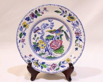 Vintage Davenport Wedgwood & Co LTD Plate, Chinoiserie Decorative Plate, Asian Decor, Birds