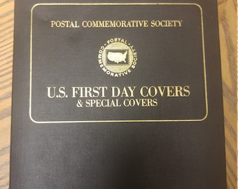 First issue postal collectors book all pages filled, great condition
