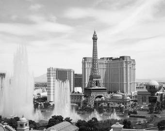 Las Vegas Photography - Black White - Las Vegas Strip - Las Vegas Print - Travel Fine Art Photograph - Wall Art - Home Decor - Office Decor