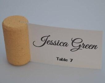 Blank Vertical Wine Cork Place Card Holders - Weddings - Parties Model 4