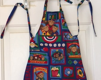 School themed child's chef apron