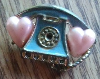 vintage telephone pin