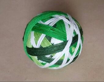 DYED TO ORDER: Hand Dyed Self Striping Sock Yarn ~ Shamrock ~