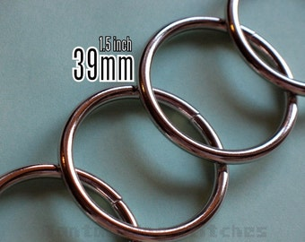 48 Pieces 1.5 inch / 39mm O Rings (available in Nickel, and Antique brass finish)