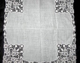 Hanky Wedding, Antique Lace Hankerchief for Bride