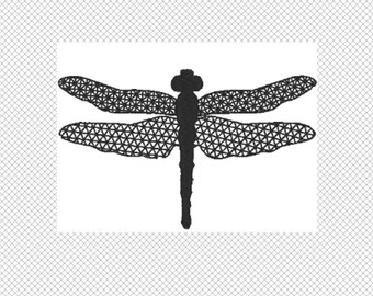 DragonFly Embroidery Design File - multiple formats - one color design - 3 sizes - instant download