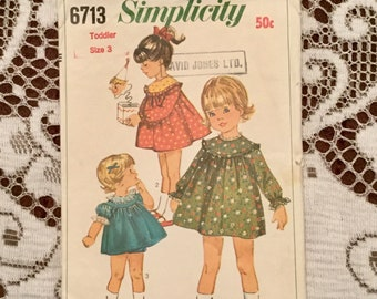 Simplicity 6713 Toddler Size 3