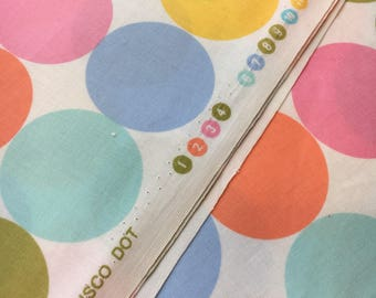 """Michael Miller Fabrics """"Disco Dot"""" in pastel. Sold by the half yard."""