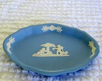 Wedgwood Blue Jasperware Figural Pin Dish