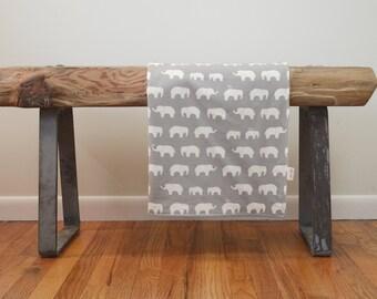 Bio-Baby-Decke in Elefanten in grau - grau Baby-Dusche-Geschenk, Neugeborene, Geschlecht Neutral Baby-Geschenk