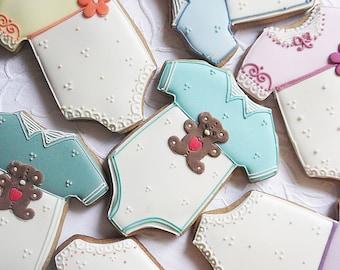 Baby Grow - Sleepsuit  Biscuit Cookie 10 Baby Shower Biscuit - baby cookies - baby party cookies