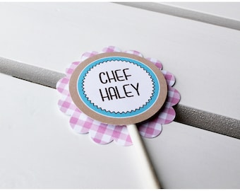 Bake Shoppe Collection. Circle Tags - Personalized. DIY Printable Design. Pinkadot Shop