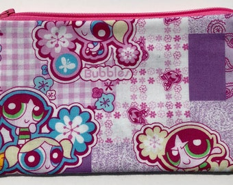 Powerpuff Girls Zipper Pouch: Superheroes, Cartoons.