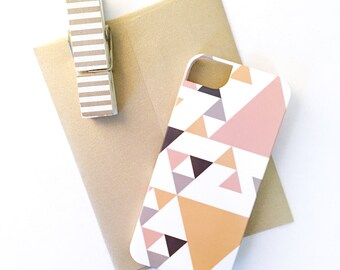 Triangles iPhone / Samsung Case - Modern, Tribal, Tech Accessory, Geometric, Simple, Angular