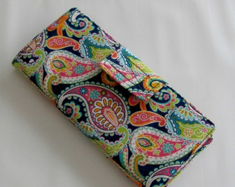 38 Slot Card Organizer, Credit Card  Organizer, Loyalty Card Organizer, Business Card Holder, Credit Card Wallet Paisley
