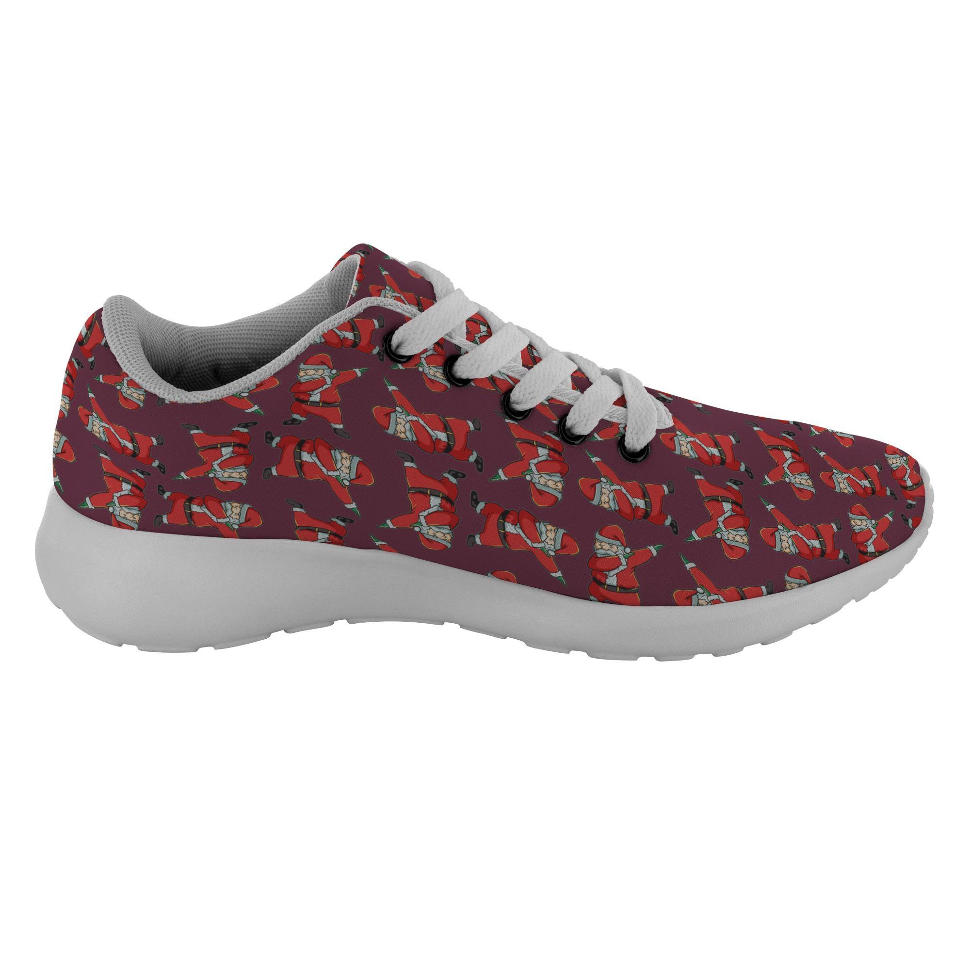 Santa mode Sneakers chaussures Casual chaussures Sneakers pour hommes, femmes, Decor tamponnant Funny cadeaux de vacances 84b966