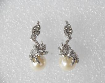 Vintage Gemstones Pearl Earrings
