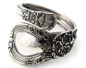 Sterling Silver Spoon Ring Lunt American Victorian Demitasse Size 4 to 9