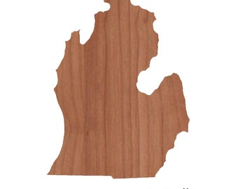Personalized Cutting Board Engraved Lower Michigan State Shaped Cutting Board Christmas Gift Kitchen Foodie Cutting Board Customized