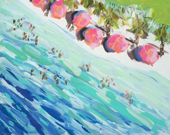 Abstract Beach Print on Paper or Canvas