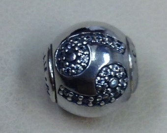 Authentic Pandora Essence Collection Silver Charm Cancer #796037CZ