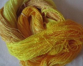 Handpainted Yarn-Soft Rayon Boucle Sport Wt. - 375 yds - BRIGHT IDEA