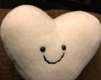 "Easter Sale!! Marshmallow love! Set of 2, 6"" heart shaped plush!!"