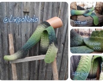 Wool socks Best ski socks Warm socks for women Socks Knee length socks Winter socks Hand knitted socks Wool knee HIGH socks DESIGNER SOCKS
