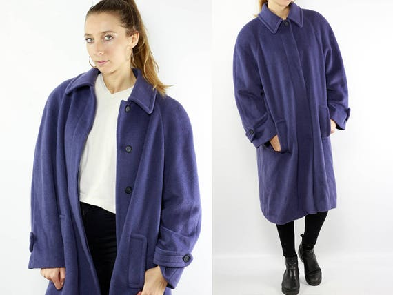 Vintage Wool Coat / Purple Wool Coat / Purple Coat / Mohair Coat / Vintage Mohair Coat / Wool Coat Women / Wool Coat Purple / Retro Coat