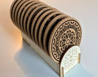 Manhole Cover Cork Coasters-Collector's Set with Free Shipping*
