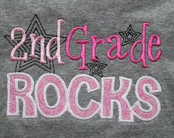 2nd Grade Rocks School Shirt Second Grade Rocks Teacher Shirt Student Shirt